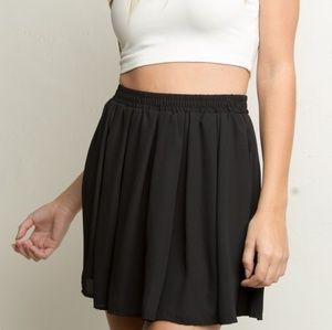 Brandy melville black flowy skirt